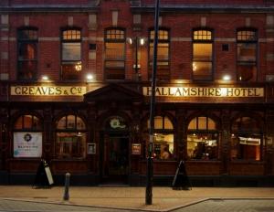 Hallamshire Hotel at night Sheffield S1