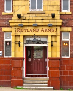 Rutland Arms Door.