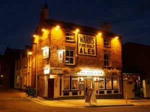 The Red Lion (at night).  Sheffield S1